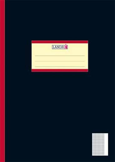 LANDRÉ Oberschulhefte/450402028 DIN A4 26 - kariert 5mm/Rand 80g/qm Inh.20 Blatt