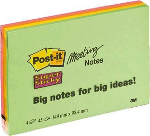 Post-it Meeting Notes/6445-4SS 149x98mm sortiert Inh.4 Blöcke