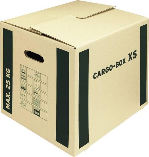 Smartboxpro Umzugskartons/118135122 455x380x345 mm braun/grün 465x347x400 mm