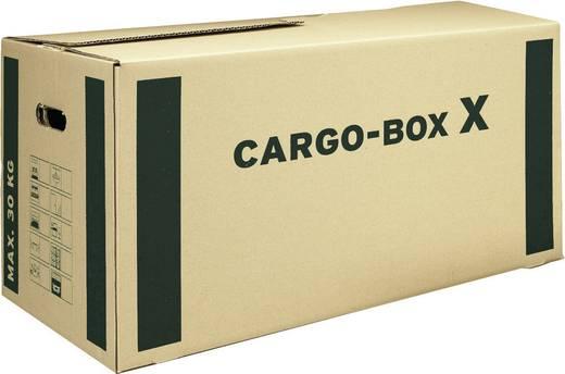 Smartboxpro Umzugskartons/118133122 637x360x340 mm braun/grün 645x348x376 mm