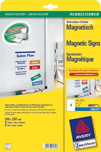Avery Zweckform InkJet-Magnetschilder/J8867-5 210x297 mm weiß Inh.5