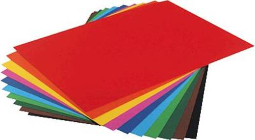 folia Fotokarton 50x70cm, hochrot/6120 300g Inh.10 Bogen