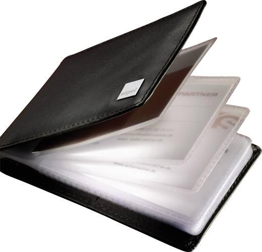 Sigel Visitenkartenmappe Torino 40 Karten (B x H x T) 110 x 75 x 16 mm Schwarz Nappaleder VZ201