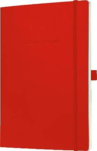 Sigel Notizbuch Conceptum Softcover/CO217 187x270 mm rot kariert 80 g/qm