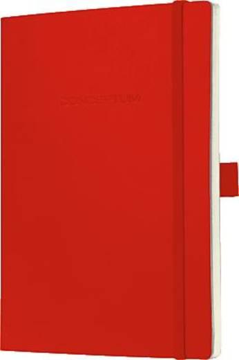 Sigel Notizbuch Conceptum/CO227 135x210 mm rot kariert 80 g/qm