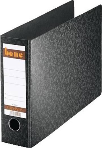 Bene Ordner A4 quer/90800 schwarz Hartpappe