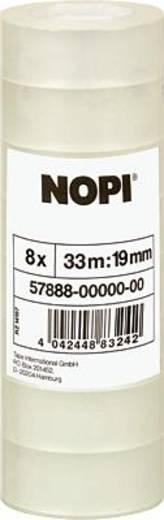 Klebeband Nopi Nopi® Transparent (L x B) 33 m x 19 mm Acryl Inhalt: 8 Rolle(n)