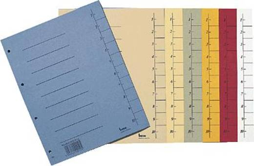 Bene Trennblätter A4 durchgefärbt/97300 A4 rot Inh.100