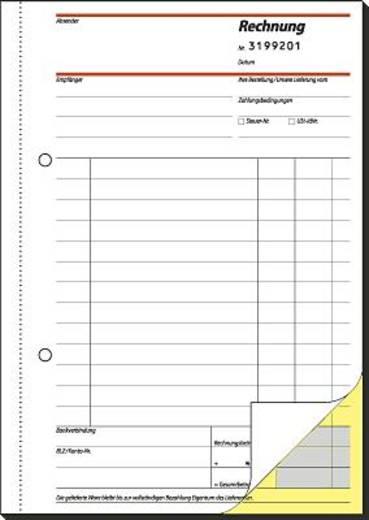 Sigel Rechnungsbücher mit fortlaufender Nummerierung/SD131 A5 h Inh.2x50 BL