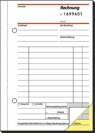 Sigel Rechnungsbücher mit fortlaufender Nummerierung/SD133 A6 h Inh.2x50 BL