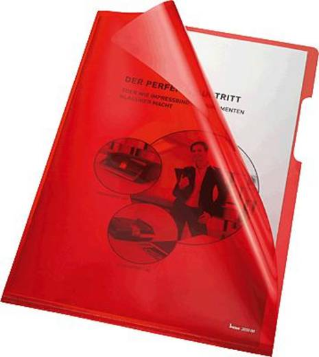 Bene Klarsichthüllen A4, rot/205000 PVC 150 my Inh.100