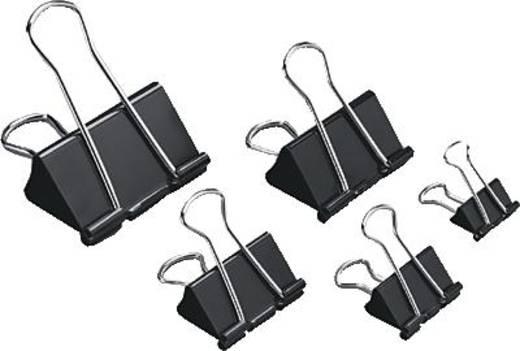 5 Star™ Foldback-Klammern 19mm schwarz Inh.12