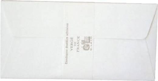 Lalo Umschläge Vergé de France/46100L DL weiß 100 g/qm Inh.25
