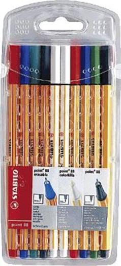 STABILO® point 88® Kombi-Etui, Tintenfeinschreiber/881000-10 sortiert Inh.10