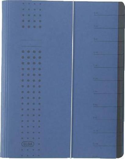 Elba Ordnungsmappe chic/42496DB für DIN A4 dunkelblau Karton (RC) 450 g/m²