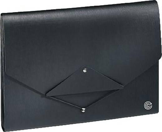 Ecobra Fächermappe/944105 DIN A4 schwarz/schwarz Polypropylen Inh.13-teilig