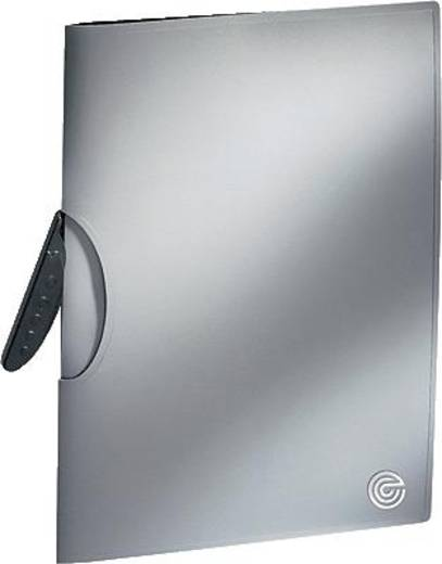 Ecobra Klemmmappe Silver Shadow/940129 A4/30 Blatt silber-schwarz