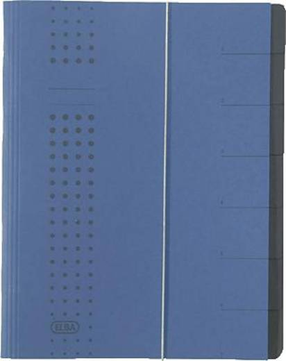 Elba Ordnungsmappe chic/42495DB für DIN A4 dunkelblau Karton (RC) 450 g/m²