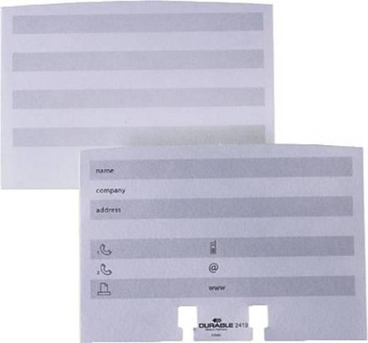 Durable Nachfüllsatz TELINDEX flip/2419-02 weiß Inh.100
