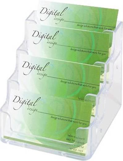 Deflecto Visitenkartenhalter/DE70841 99x35x45mm glasklar 4 Fächer