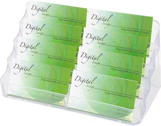 Deflecto Visitenkartenhalter/DE70801 199x89x98mm glasklar 8 Fächer