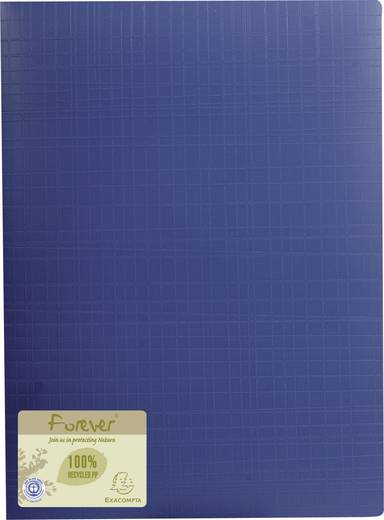 Exacompta Sichtmappe forever Recycled PP/884572E 320x240 mm blau 40 Hüllen