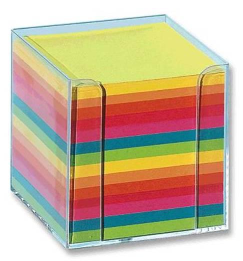 Folia Zettelbox glasklar farbig/9902 95x95x95 mm bunt
