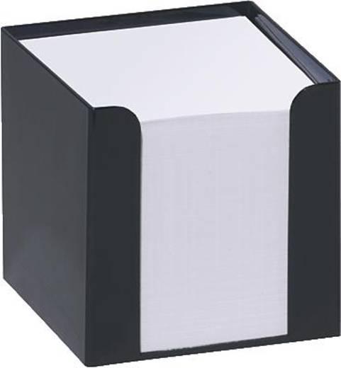 Folia Kunststoffzettelbox schwarz/9910-A 95x95x95 mm