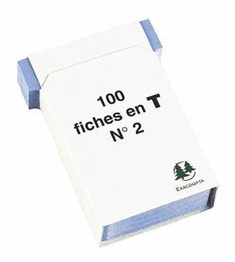 Exacompta Steckkarten/57702E blau Inh.100