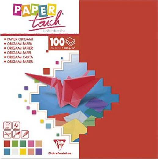 Clairefontaine Origamipapier/95008C 12x12cm sortiert Inh.100