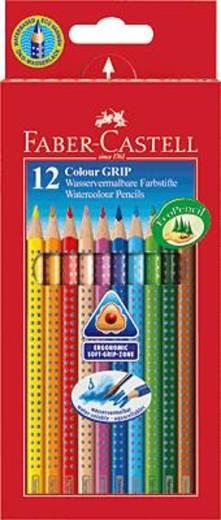 FABER-CASTELL COLOUR Grip 2001 Farbstifte/112412 sortiert Inh.12