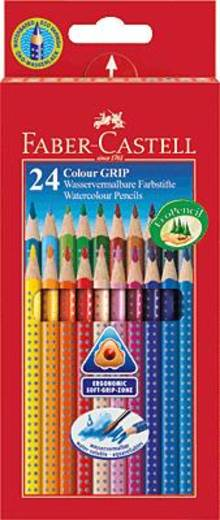Faber-Castell COLOUR Grip 2001 Farbstifte/112424 sortiert Inh.24