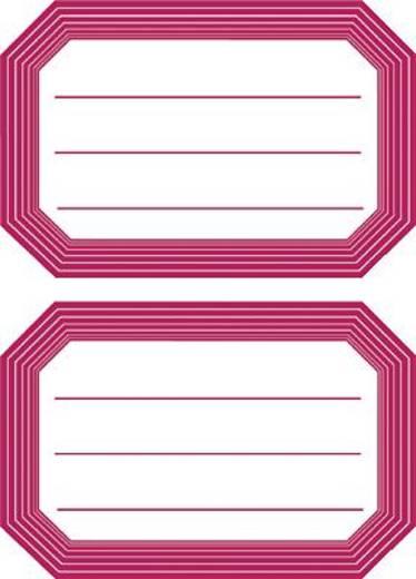 HERMA Buch- und Heftschilder/5712 82x55 rot roter Rand liniert Inh.6
