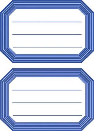 HERMA Buch- und Heftschilder/5714 82x55 blau blauer Rand liniert Inh.6