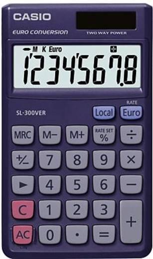 Taschenrechner Casio SL-300VER Blau Display (Stellen): 8 solarbetrieben, batteriebetrieben (B x H x T) 70 x 7.5 x 118.5