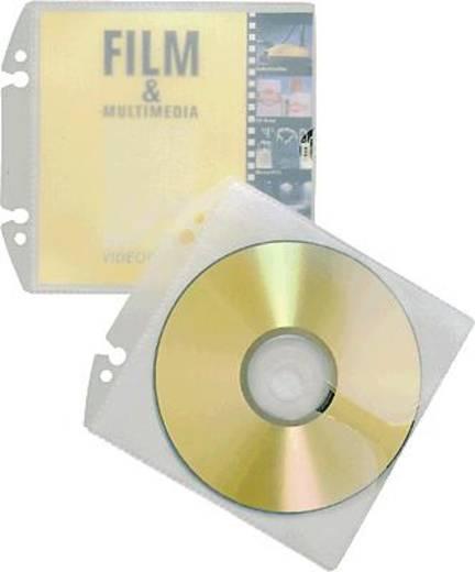 Durable CD/DVD Ordner-Hülle 1 CD/DVD/Blu-Ray PP Transparent 10 St. 5223-19
