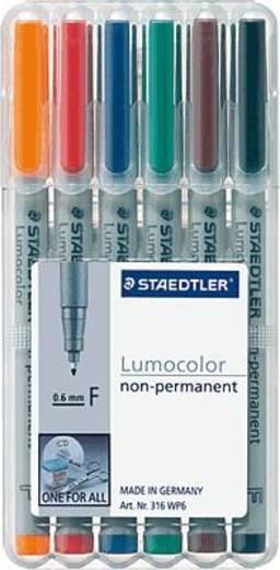 STAEDTLER Lumocolor non-permanent 6er Etui/316 WP6 F sortiert Inh.6