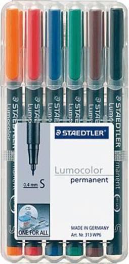 STAEDTLER Lumocolor permanent /313 WP6 sortiert Inh.6