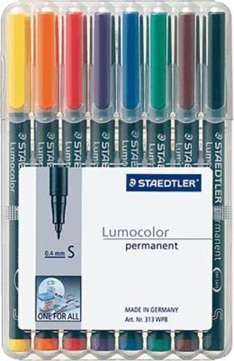 Staedtler Lumocolor® permanent 313 Folienstift 313 WP8 Blau, Braun, Gelb, Grün, Orange, Rot, Schwarz, Violett