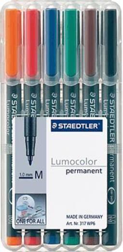 STAEDTLER Lumocolor permanent /317 WP6 sortiert Inh.6