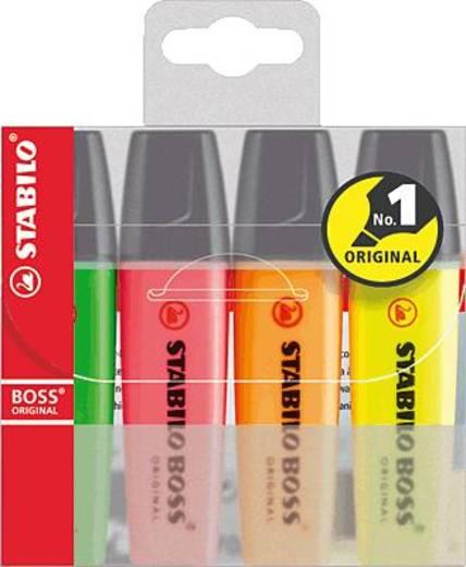 STABILO BOSS® ORIGINAL, Leuchtmarkierer/70-4 2 + 5 mm sortiert Inh.4