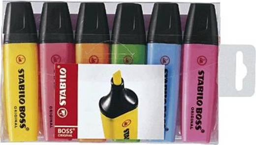 STABILO® BOSS® ORIGINAL, Leuchtmarkierer/70-6 2 + 5 mm sortiert Inh.6