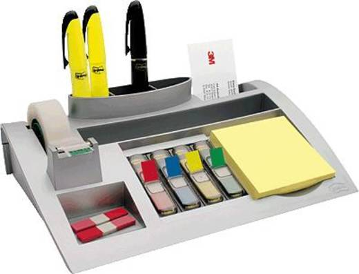 Post-it® Schreibtischorganizer/C50 silberfarben