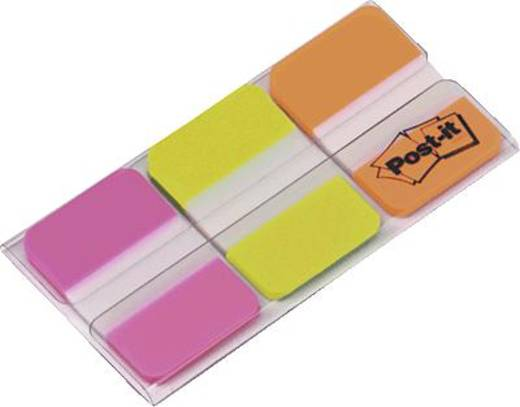 Post-it® Index Strong/686PGO 25,4x38 mm pink/grün/orange Inh.3x 22