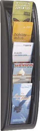 PAPERFLOW Wandahlter Quick Blick/4062-01 H65xB18xT9,5cm schwarz 5 Fächer 1/3 A4