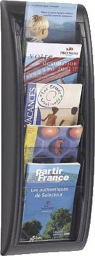 PAPERFLOW Wandhalter Quick Blick/4063-01 H65xB22,7xT9,5cm schwarz 5 Fächer A5