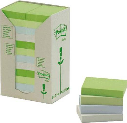 Post-it® Haftnotizen Recycling-Papier/653-1RPT 38x51 mm pastell Inh.24