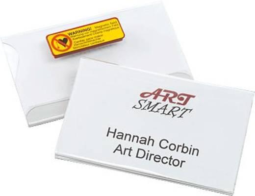 Durable Namensschilder mit Magnet/8117-19 54 x 90 mm farblos Inh.25