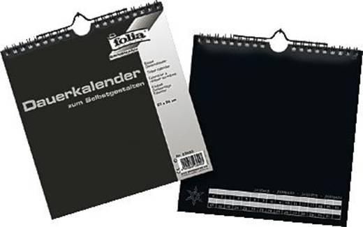 folia Bastel-Dauerkalender/23690 23x24cm schwarz/silber