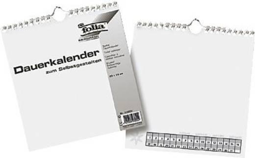 folia Bastel-Dauerkalender/23600 23x24cm weiß/schwarz